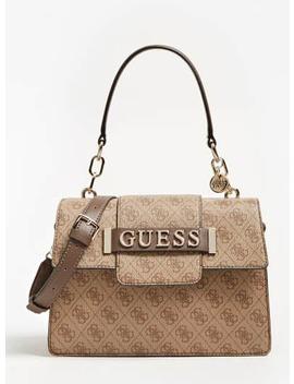 Kerrigan All Over Logo Handbag by Guess