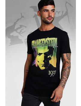 Frankenstein License T Shirt by Boohoo
