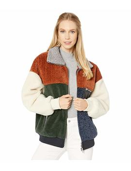 Color Block Faux Fur Jacket by Blank Nyc