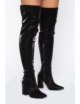 Try Another Time Over The Knee Boots   Black by Fashion Nova