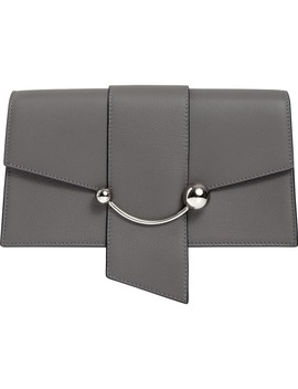 Mini Crescent Leather Clutch by Strathberry