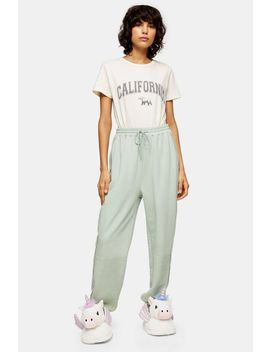 Sage Oversized Joggers by Topshop