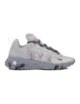 Grey Kendrick Lamar Edition React Element 55 Sneakers by Nike