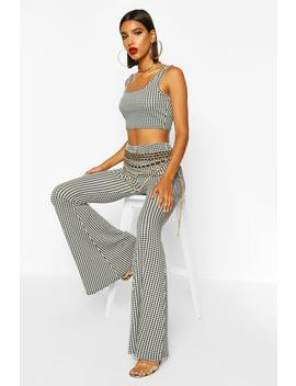Houndstooth Extreme Flare by Boohoo