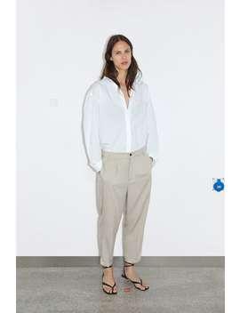 Pantalon À Revers Dans Le Bas by Zara