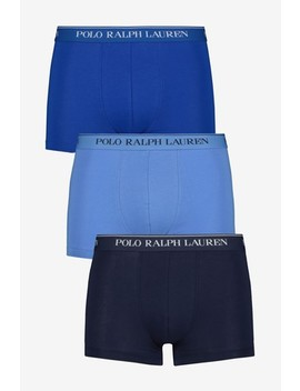 Polo Ralph Lauren Blue/Navy Trunk Three Pack by Next