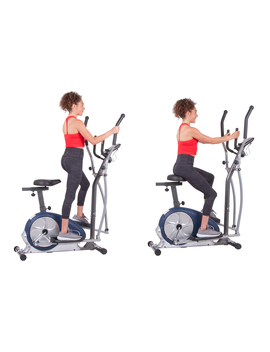 Body Champ Brm3671 Elliptical And Exercise Bike Dual Trainer by Body Champ