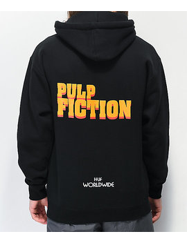 Huf X Pulp Fiction Burger Black Hoodie by Huf