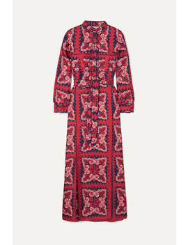 Printed Silk Charmeuse Midi Dress by Valentino