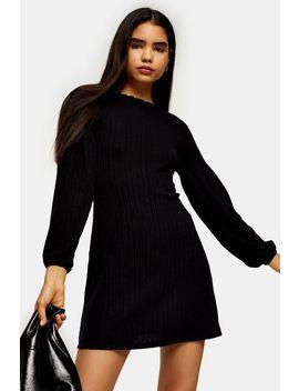 Black Cut And Sew Balloon Mini Dress by Topshop
