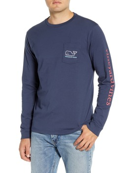 Tricolor Whale Pocket T Shirt by Vineyard Vines