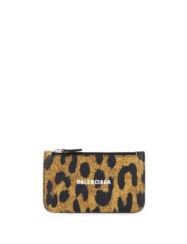 Logo Leopard Print Purse by Balenciaga
