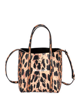 Everyday Xxs Aj Leopard Tote Bag by Balenciaga