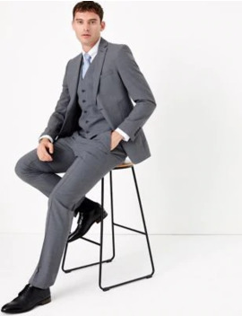 Grey Slim Fit 3 Piece Suit by Marks & Spencer