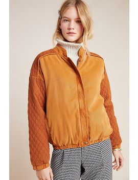 Marigold Quilted Bomber Jacket by On The Road