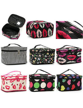 Women Travel Cosmetic Case Toiletry Makeup Handbag Organizer Storage Pouch Bag by Unbranded