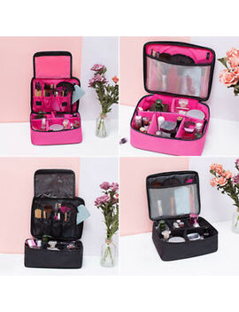 Women Large Makeup Bag Cosmetic Case Storage Handle Travel Organizer Part Useful by Ebay Seller