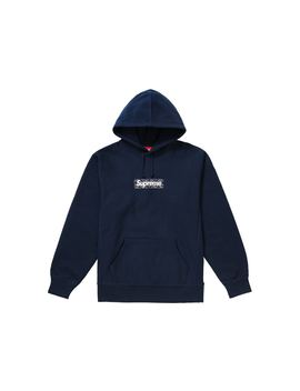 Supreme Bandana Box Logo Hooded Sweatshirt Navy by Stock X