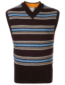 Striped Knitted Vest by Wooyoungmi