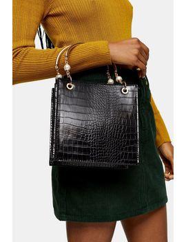 Ariel Black Pearl Tote Bag by Topshop