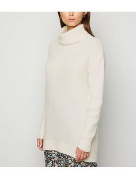 Tall Cream Roll Neck Jumper by New Look
