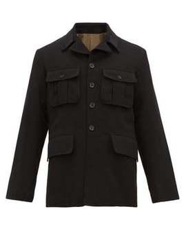 Flap Pocket Wool Blend Jacket by Ann Demeulemeester