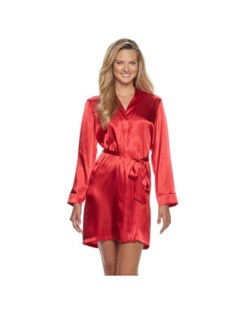 Women's Apt. 9® Solid Satin Wrap Robe by Apt. 9