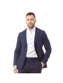 Ted Baker Mens Hines Linen Blend Jacket Navy by Ted Baker