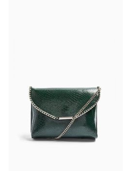 Court Green Chain Clutch Bag by Topshop