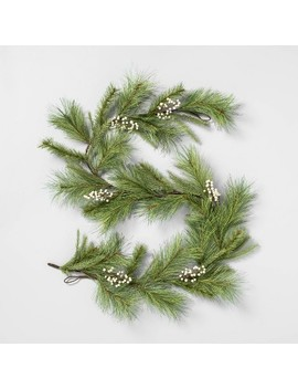 "72"" Faux White Pine Garland With Berry   Hearth & Hand™ With Magnolia by Shop Collections"