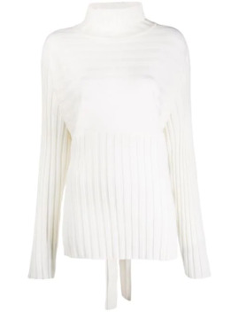 Ribbed Back Tie Jumper by Le 17 Septembre