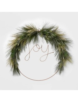 "<Span><Span>Lit Led Wire Christmas Wreath Joy  </Span><Br><Span>Wondershop</Span></Span><Span Style=""Position: Fixed; Visibility: Hidden; Top: 0px; Left: 0px;"">…</Span> by Wondershop…"