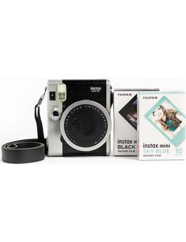 Fujifilm Instax Mini 90 Neo Classic Instant Camera W/ Film Double Pack (Black) [Ex Display*] by Fujifilm