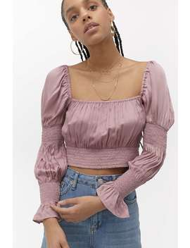 Uo Venus Supercrop Blouse by Urban Outfitters