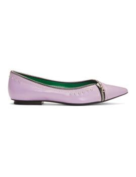 Purple 'the Zipper Flat' Ballerina Flats by Marc Jacobs