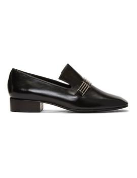 Black Modernist Loafers by Dorateymur