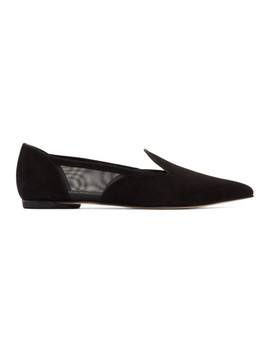 Black Suede Manet Loafers by Repetto