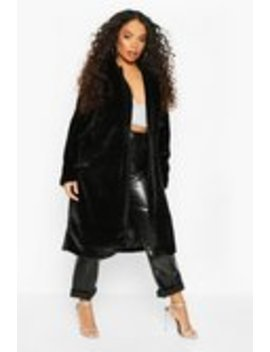 Petite Longline Super Soft Faux Fur Coat Petite Longline Super Soft Faux Fur Coat by Boohoo