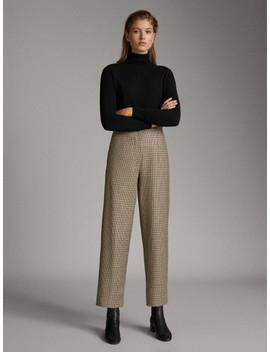Spodnie W KolorowĄ PepitkĘ by Massimo Dutti