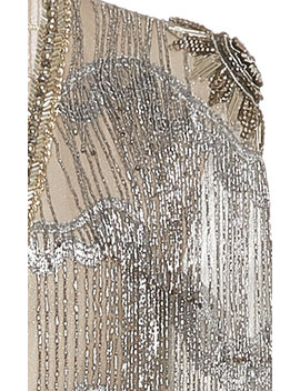 Braid Fringe Metal Mini Dress by Cucculelli Shaheen