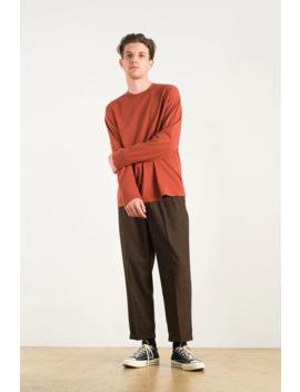 Menswear   Soft Long Sleeve Tee, Cinnabar by Olive