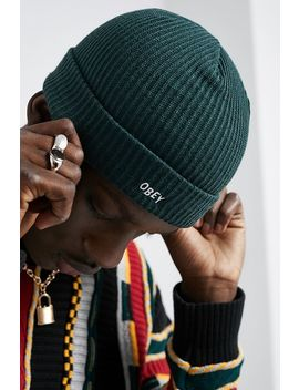 Obey Hangman Green Beanie by Obey