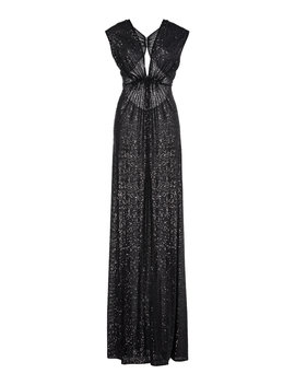 Pleated Sequined Lamé Gown by Naeem Khan