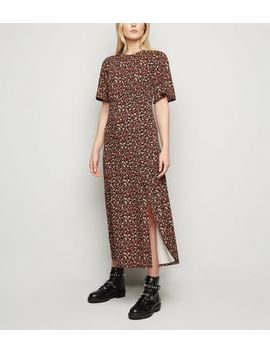 Tall Black Floral Jersey Empire Midi Dress by New Look