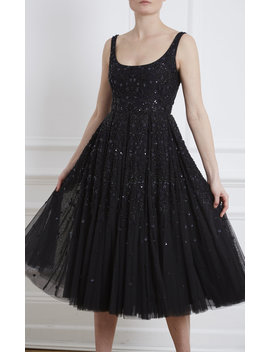 Snowflake Sequin Embellished Tulle Midi Dress by Needle & Thread