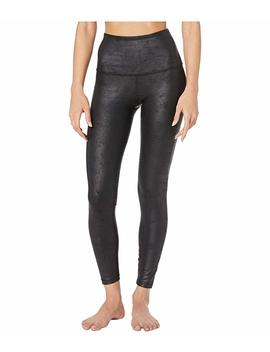 Luxe Leatherette High Waisted Midi Leggings by Beyond Yoga