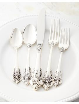 46 Piece Grande Baroque 75th Anniversary Flatware Service by Wallace Silversmiths