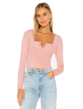 Clare Long Sleeve Top In Pink by Superdown