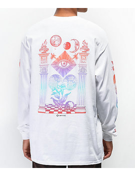 Empyre Collide White Long Sleeve T Shirt by Empyre