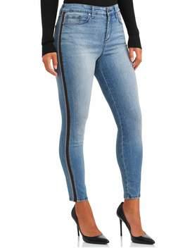 Sofia Jeans Rosa Curvy Lurex Side Stripe High Waist Ankle Jean Women's by Sofia Jeans By Sofia Vergara